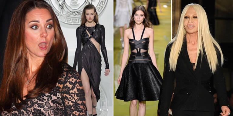 Versace will Herzogin in schwarzem Kleid sehen