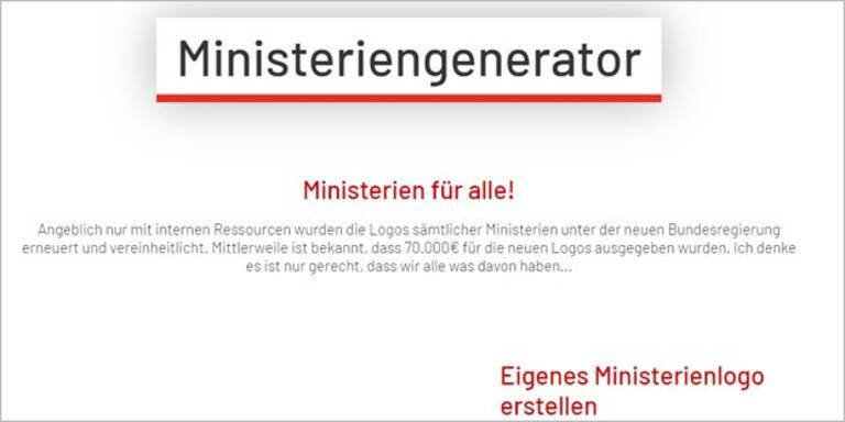 Logo-Affäre: Ministeriengenerator wird Hit im Netz
