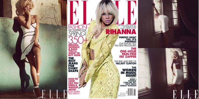 Rihanna post für sexy Shooting