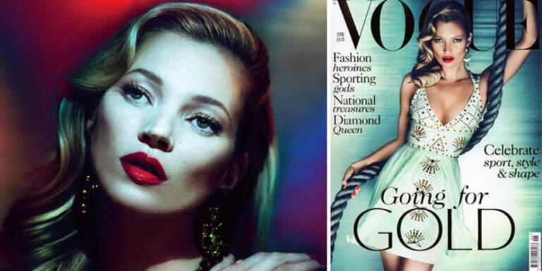 Kate Moss zum 32.Mal am Vogue-Cover