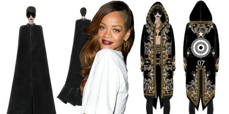 Rihanna in Givenchy Haute Couture auf Tour