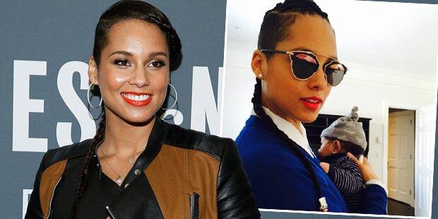 Alicia Keys zeigt süßen Babysohn