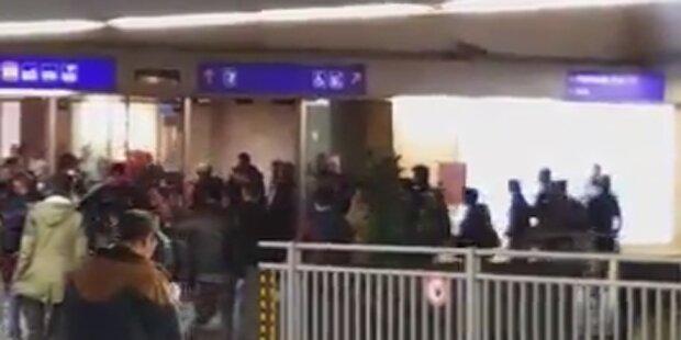Massenschlägerei am Westbahnhof in Wien