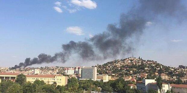 Ankara: Explosion entpuppt sich als Großbrand
