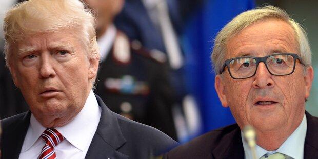 Trump trifft Juncker: Milliarden-Streit