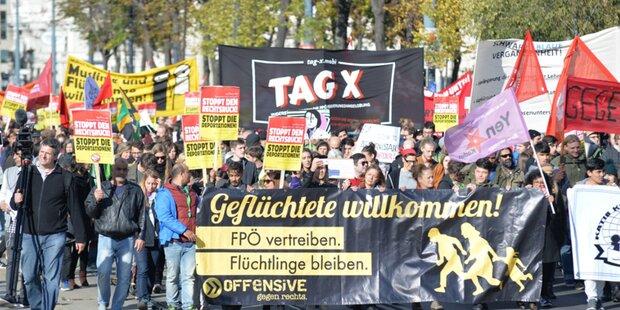 'Demo-Samstag' legt Wiener City lahm