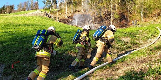 Osterfeuer entfachte Waldbrand im Zillertal