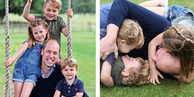 Kate knipst Mini-Royals zum Vatertag