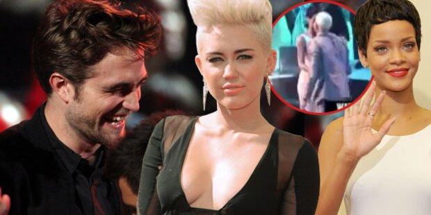VMAs: Pattinson solo, Rihanna küsst Prügel-Ex