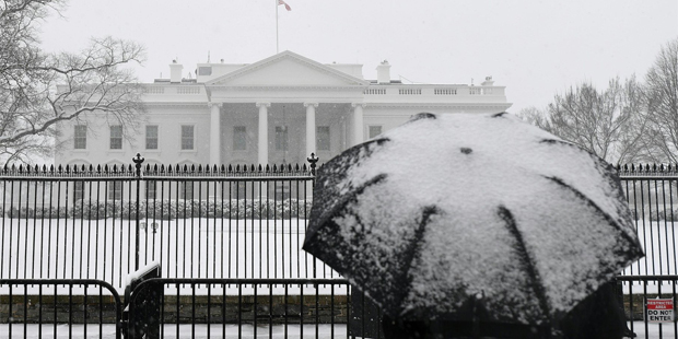 Washington Schnee Kurz Besuch