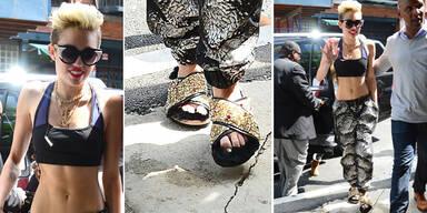 Miley Cyrus flauschig unterwegs!
