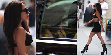 Lady Gaga nur im BH unterwegs in NY