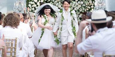 Beth Ditto: Hochzeit barfuß & in Gaultier-Kleid