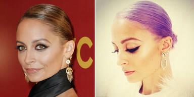 Neuer Haarstyle: Nicole Richie in Lila Laune
