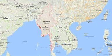 Flugzeug vor Myanmar abgestürzt