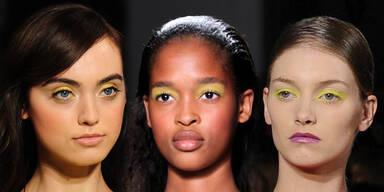 Beauty-Trend: Gelber Lidschatten