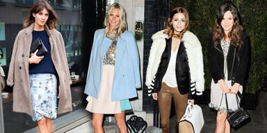 Coats plus Heels und Bags