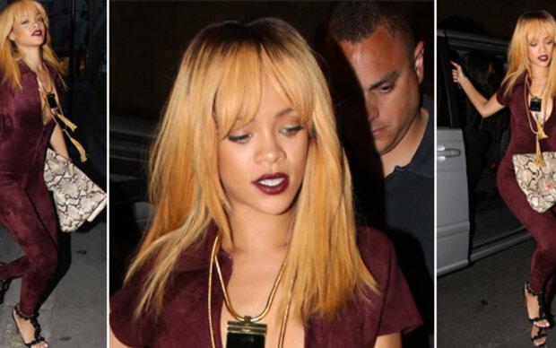 Rihanna: Samt-Jumpsuit im Juni