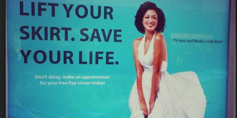 Werbung gegen Gebärmutterhalskrebs regt auf