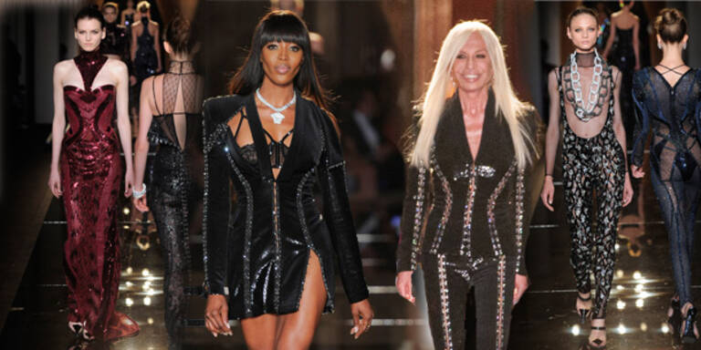 Naomi Campbell eröffnete Versace-Show
