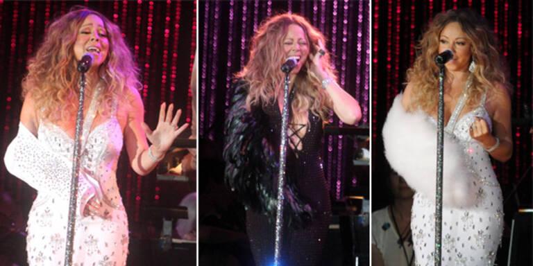 Mariahs neuestes Accessoire: Die Armschlinge