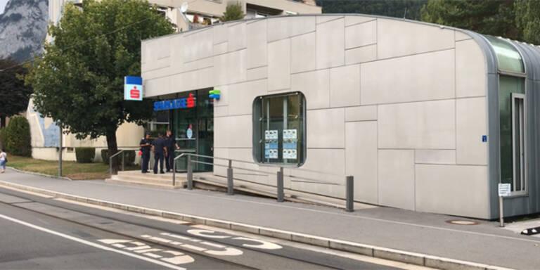 Banküberfall mit Geiselnahme in Innsbruck