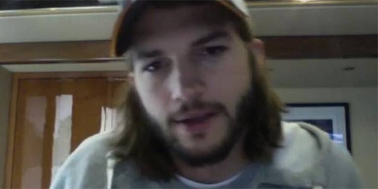 Ashton Kutcher sendet wirre Video-Botschaft