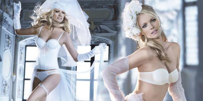 Franziska Knuppe in sexy Braut-Dessous