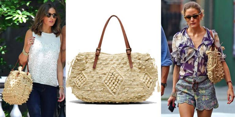 Olivia Palermo läutet den Strohtaschen-Trend ein