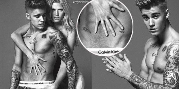 Bieber: Für CK männlich gemogelt