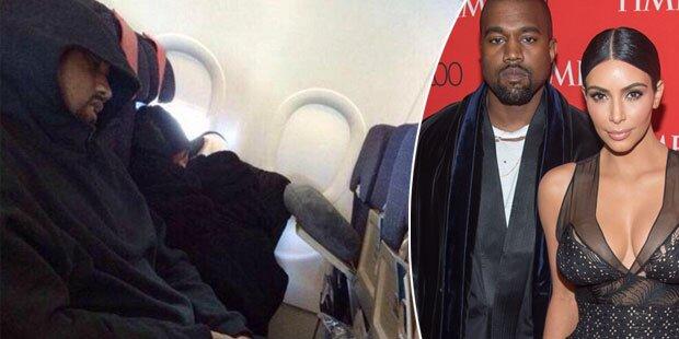 Kim & Kanye fliegen in der Holzklasse