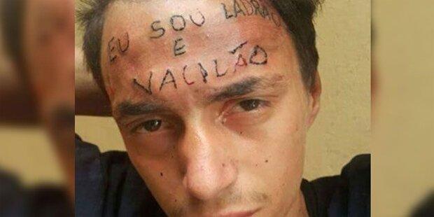 Peiniger bestrafen Dieb mit Gesichts-Tattoo