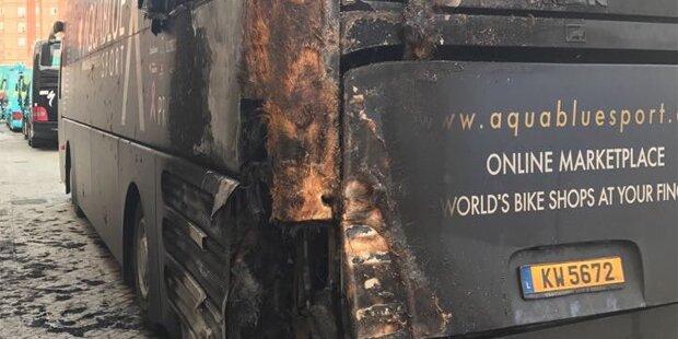 Brandanschlag auf Bus des Denifl-Teams