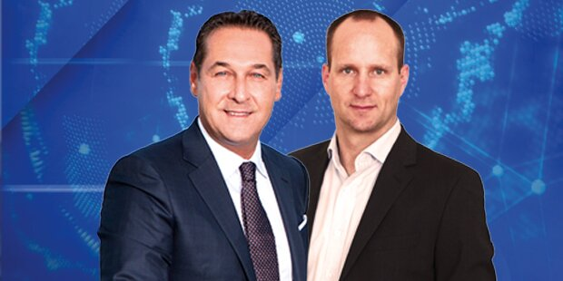 Das Duell: Strache gegen Strolz auf oe24.TV