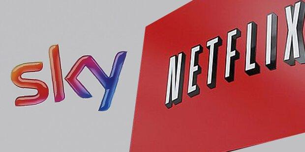 Netflix bald auch über Sky zu sehen