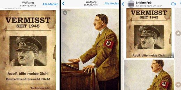 Hitler-Bild am Handy: Tiroler Ex-FPÖ-Funktionär angeklagt