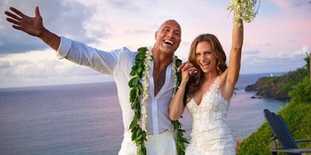 Dwayne Johnson: 'The Rock' hat geheiratet