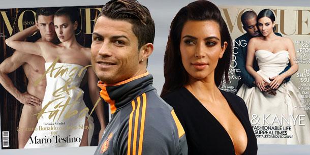 Vogue-Duell: Cristiano Ronaldo vs. Kim Kardashian