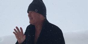 Schnee-Chaos: Hasselhoff in Salzburg eingeschneit