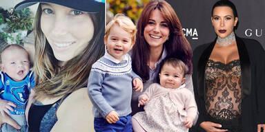 Star-Babys 2015, Kate, Kim Kardashian, Jessica Biel