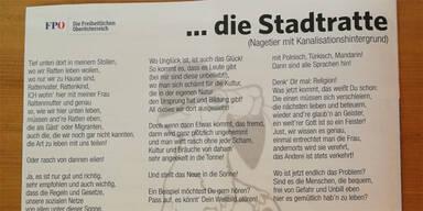Stadtratte Gedicht FPÖ Braunau