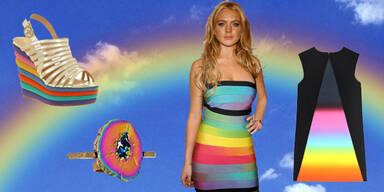 Modische Regenbogen-Parade