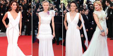 Cannes Stars ganz in weiss