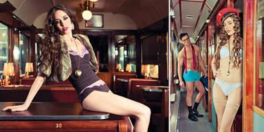 Lizzy Jagger zieht für Dessous-Label 'Skiny' blank