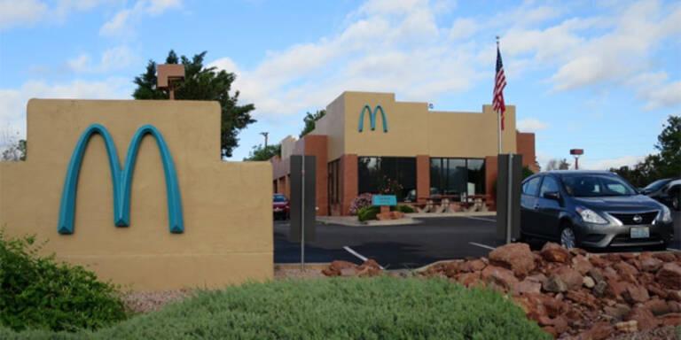 Deshalb ist das Logo dieser McDonald's-Filiale türkis