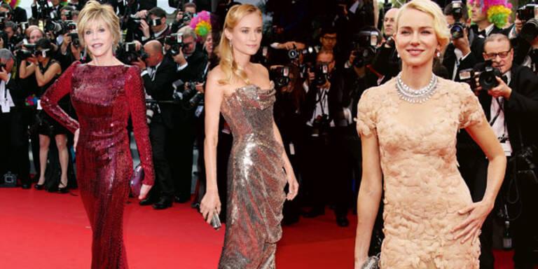Cannes-Beautys setzen auf Nixen-Silhouetten