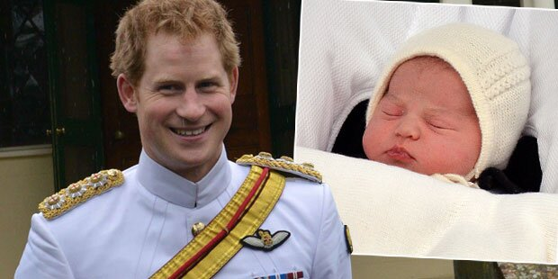 Prinz Harry verpasst Charlottes Taufe