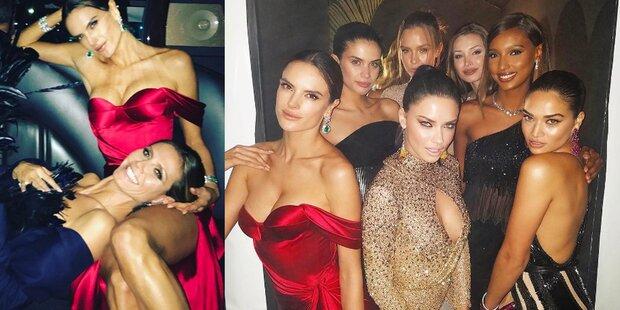 Supermodel-Gipfel auf Oscar-Party