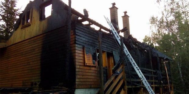 Mutter und zwei Kinder verbrannten in Ferienhaus