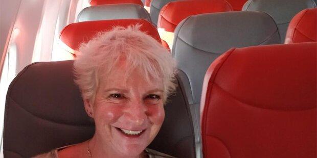 Für 50 Euro: Touristin reiste allein im Jet